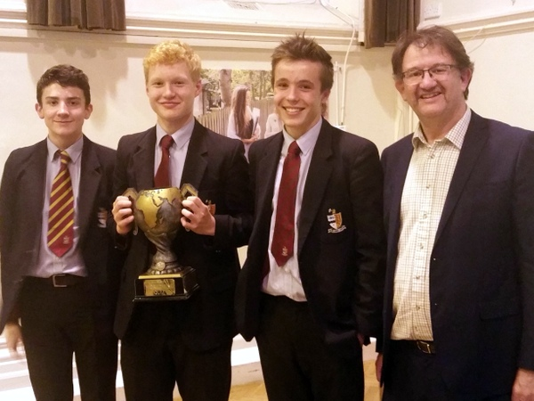 Bristol Grammar School (Team 2); Winners of Bristol WWQ 2016 (and President of Bristol GA, Garry Atterton)