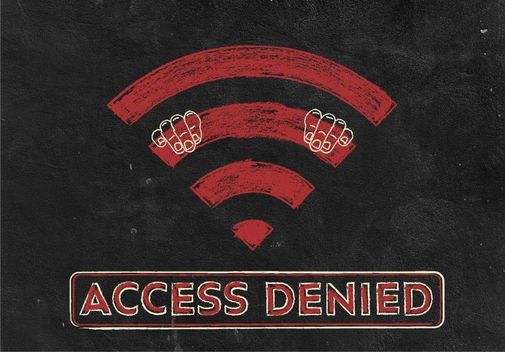 Access denied illustration