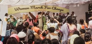 Women from all walks of life gather at Jantar Mantar in Delhi on 4th April 2019 to raise their voices against gender-based violence, patriarchy and caste-based politics and to demand a secular, equal and tolerant State.