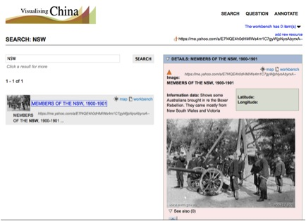 Viewing the newly added resource in Visualising China