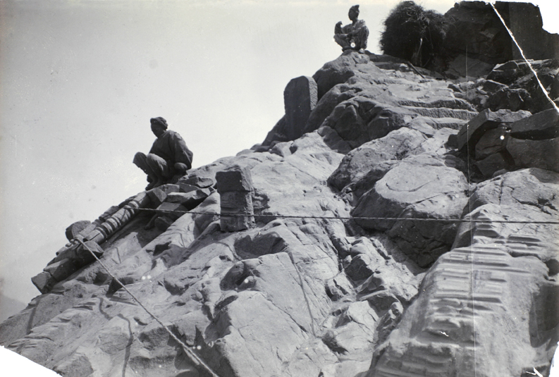 Grooved rocks at a sharp turn in the Yangtze River, 1914