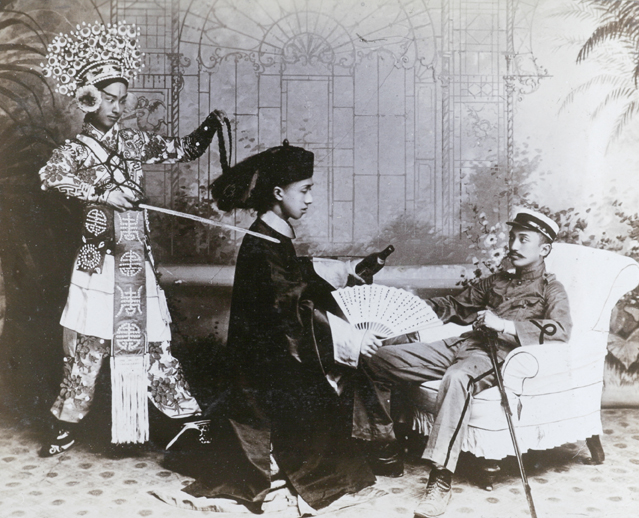 A scene from a theatrical performance
