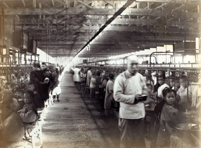 Silk filature or factory, Shanghai, c.1900