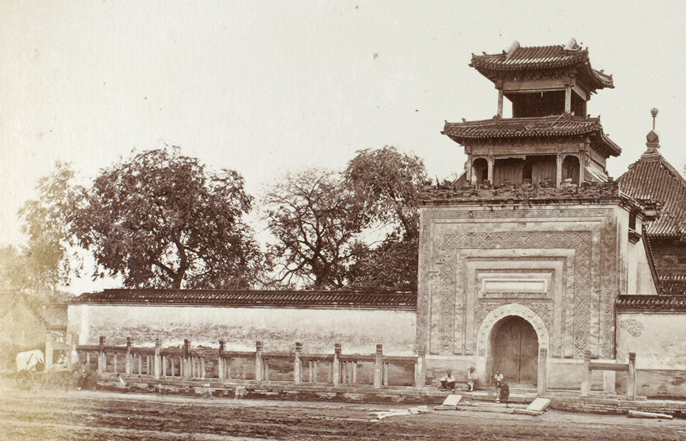 Entrance to the mosque, Peking