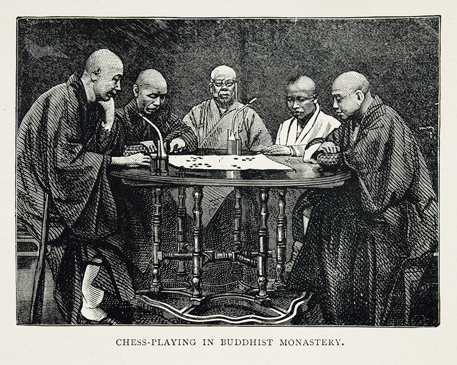 Wood engraving from 'In the Valley of the Yangtse' by Mrs Arnold Foster.