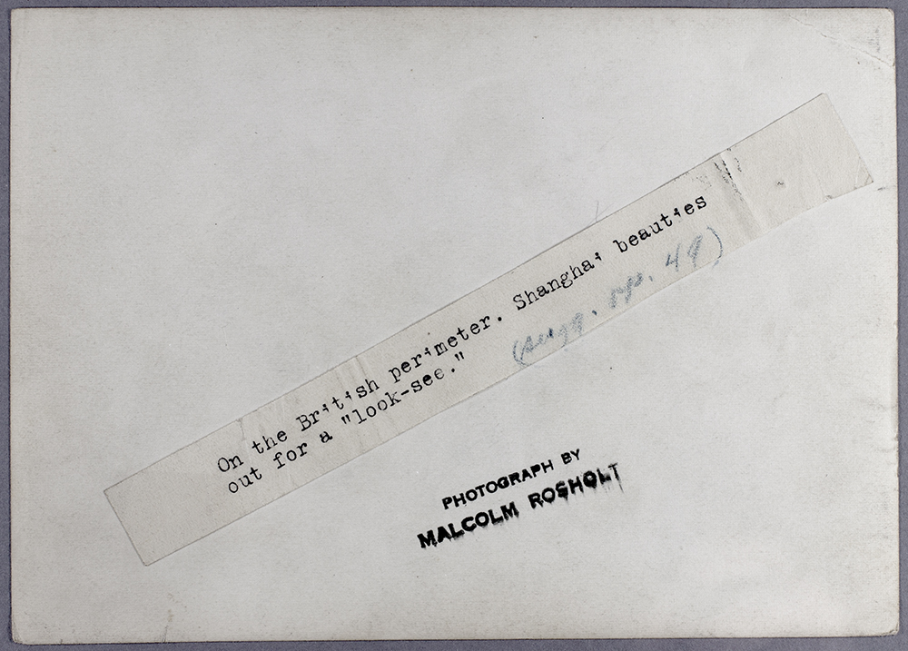 Rosholt's captioning (for publication use) on the back of the photograph Ro-s075.