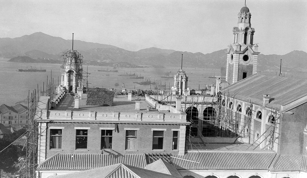 Hong Kong University under construction, c.1912-16.  Sw18-105.