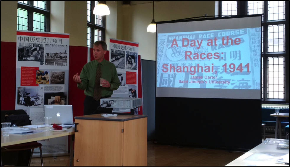 Professor Jay Carter, Saint Joseph's University, introducing students to the issues of racing and photography in the history of modern China.