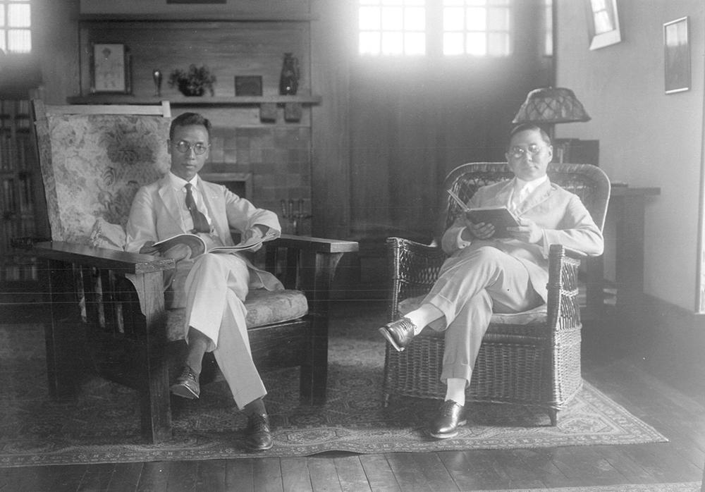 Fu Bingchang and Sun Fo (Sun Ke), 1920s, Fu Bingchang collection Fu-n128 © 2007 C. H. Foo and Y. W. Foo