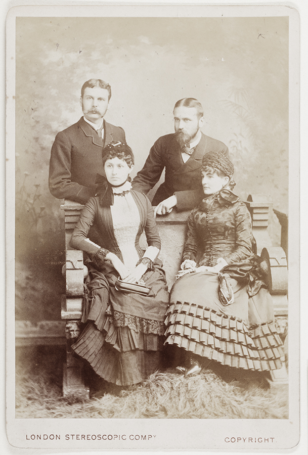 9. Walter and Clare, Harry and Annie, c. September 1882, London.