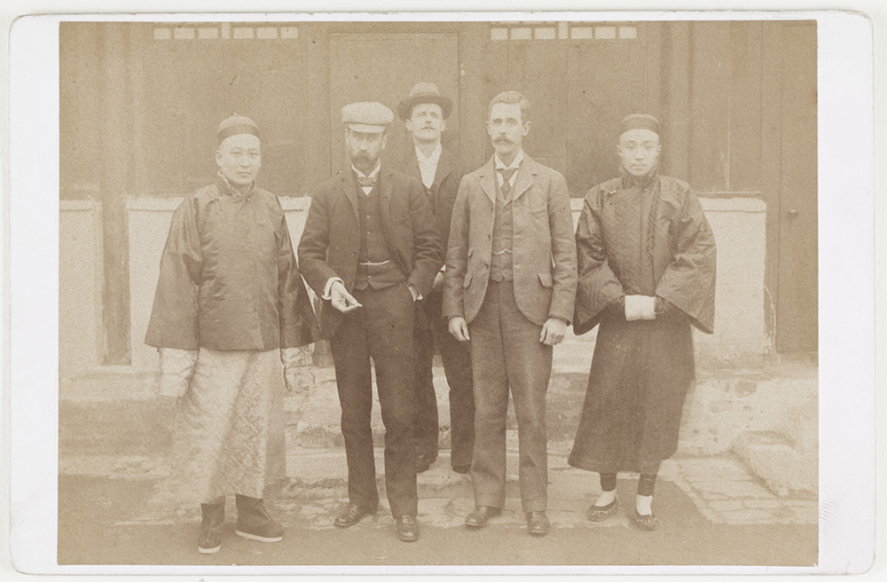5. Guy Hillier with Bank staff, c. 1891.