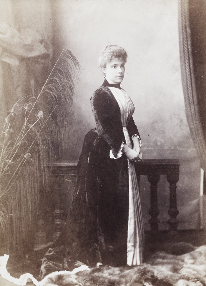 5. The 'jolly and communicative' Gina Marshall Hole, photographed shortly before leaving for China in 1888. She later married Herbert Brady. Photograph by Boning and Small. Andrew Hillier Collection, Hi-s143, © 2014 Andrew Hillier.