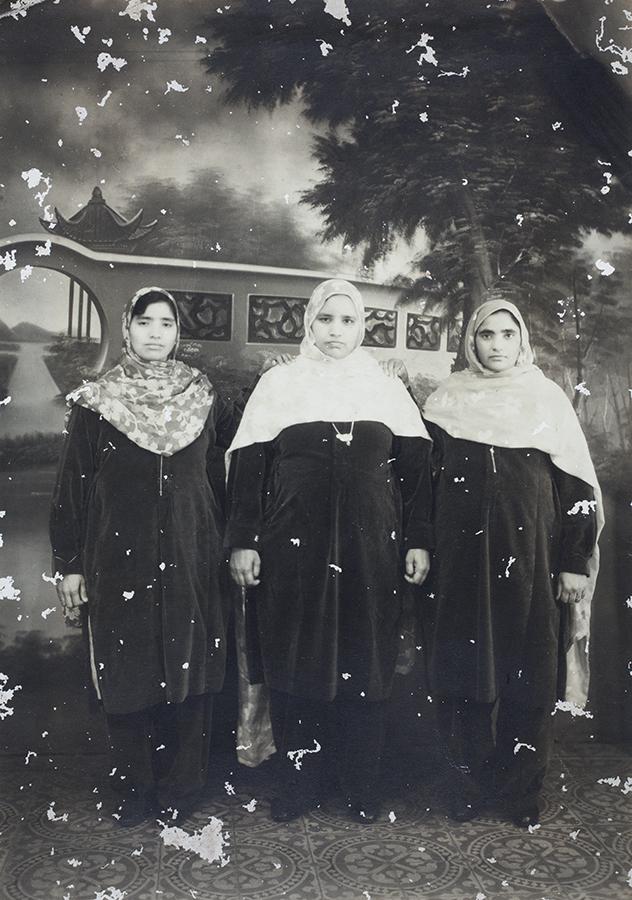 Nachhattar Kaur Sangha, with two other women - a rare photograph of Sikh women in Shanghai.  Photograph by Cardon, Shanghai, 1930s. Ranjit Singh Sangha Collection, Jn-s36.