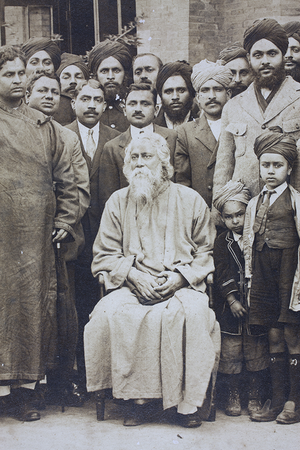 Rabindranath Tagore, the Bengali polymath and poet on a visit to Shanghai, 1920s.  Ranjit Singh Sangha Collection, Jn-s42.