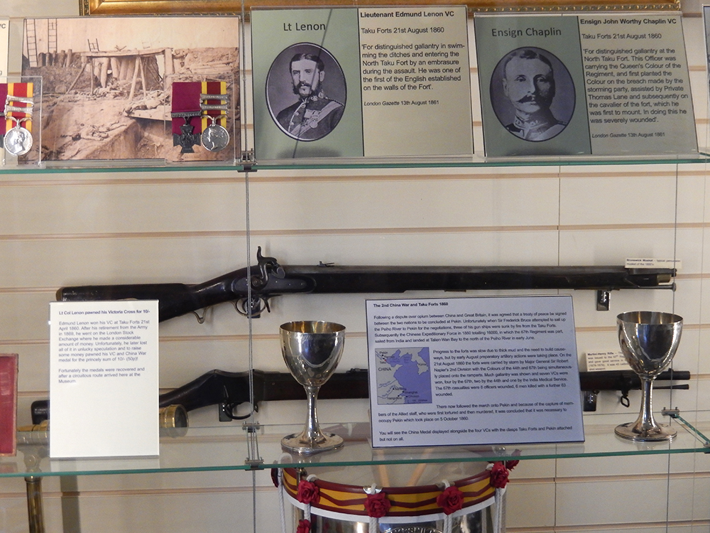 1.Part of the Taku Fort display, Royal Hampshire Museum