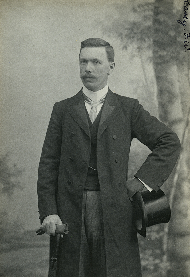 A portrait of F.W. Carey by Maull and Co., a fashionable London firm, which had an arrangement with the RGS to photograph its members for the Society's records. Presumably taken when Carey was on leave in 1902, it confirmed his standing as an amateur ethnographer of empire. © Royal Geographical Society (with IBG).