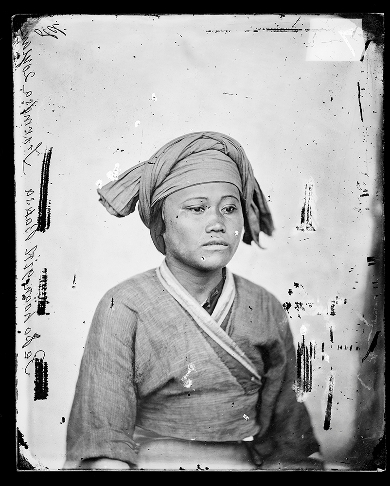 A portrait of Gochi. Thomson's negative numbered 782. 'Pepohoan girl, Baksa, Formosa, 20 years old.' Credit: Wellcome Collection. CC BY.