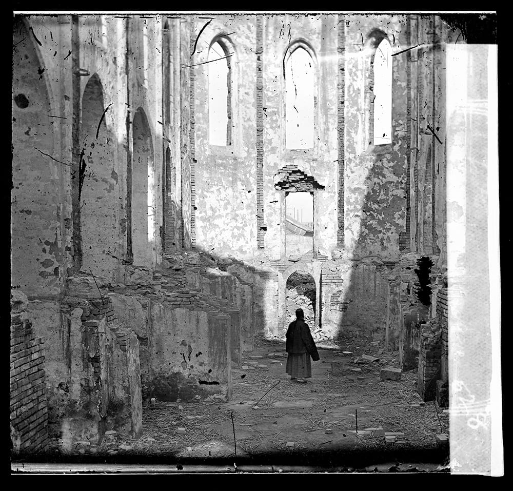 Fig. 8. Chapel of the Sisters of Mary, which was destroyed, following the murder of ten French nuns in 1870, Illustrations of China, IV, plate 3. The photograph was probably taken not long afterwards in early 1871. Photograph by John Thomson, negative no. 528a. Credit: Wellcome Collection. CC.BY.