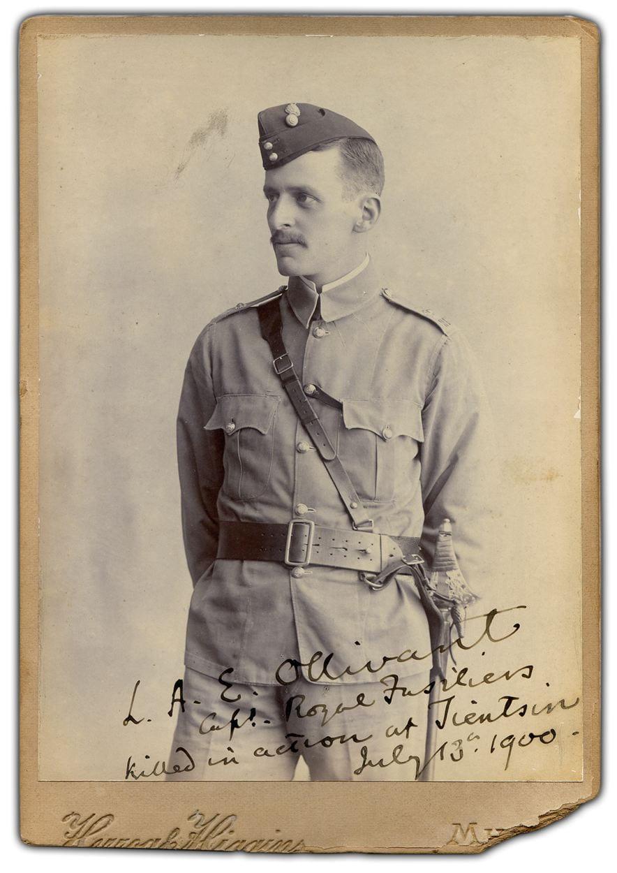 5. Captain Ollivant, Royal Fusiliers (City of London Regiment). Photographer, Herzog & Higgins, Mhow, India, c. 1899.
