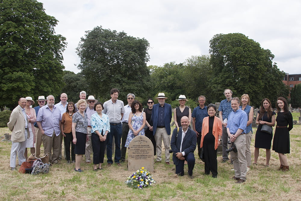 Attendees at the John Thomson commemorative event, at Streatham Cemetery, 13 July 2019. Photograph by Jamie Carstairs.