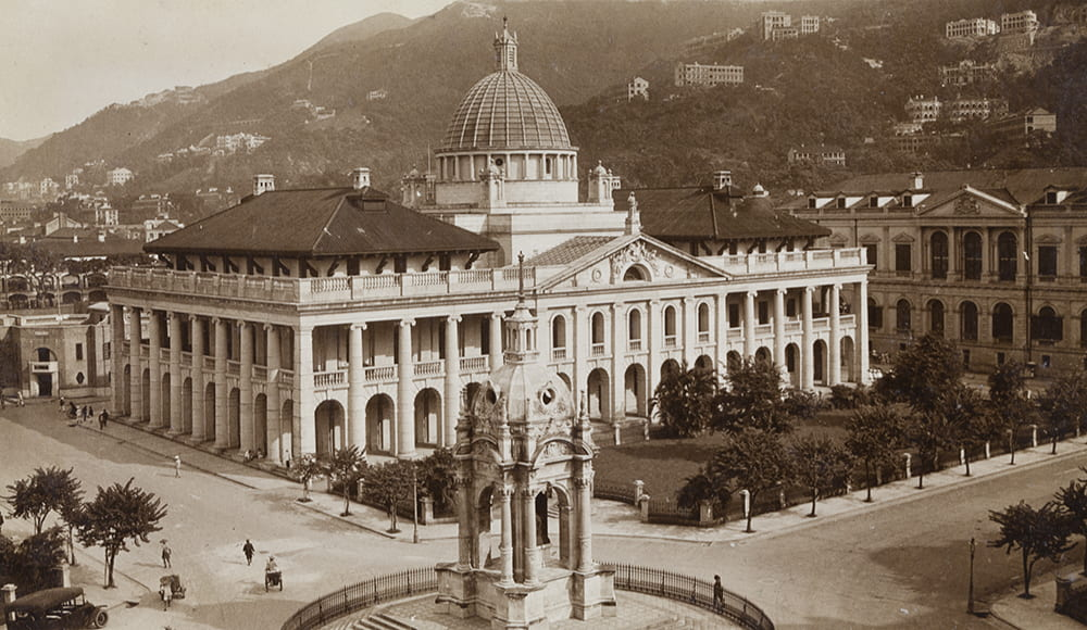 The Supreme Court and Queen Victoria's Statue, Hong Kong, c.1923-29. HPC ref: JC01-01.