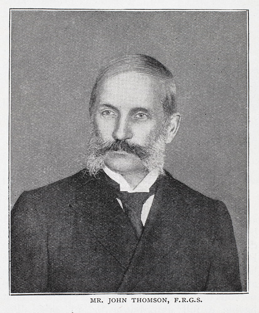 A portrait of John Thomson FRGS FRPS, aged about 60, reproduced in 'The Wide World Magazine' in 1898, in an article about him by Arthur E. Swinton, entitled 'Queer Sights in China'.