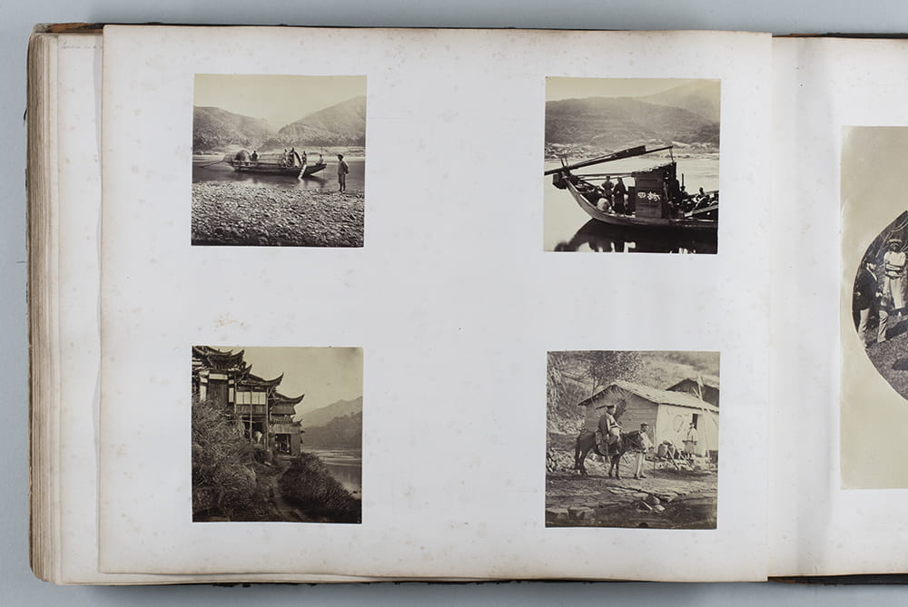 These square prints were made off one of a pair on stereoview negatives. Interestingly, Deborah Ireland points out that all four of these photographs were later reproduced in John Thomson's books, 'Foochow and the River Min' or 'China and Its People'. See Fr01-109, Fr01-110, Fr01-111 and Fr01-112. HPC ref: Fr01-p083.