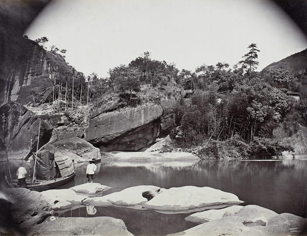 Gollen Valley cave near Xingcun, Fujian, c1869. Photograph by Lai Fong (Afong Studio). HPC ref: Fr01-071.