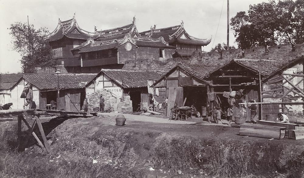 Dajing Pavilion, workshops and city wall, Shanghai, Shanghai, c.1905-1911. HPC ref: GJ01-028.