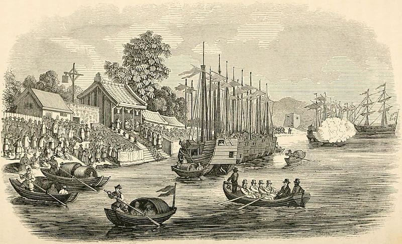 Fig. 4. Landing at Woosung. From 'China: Its State and Prospects', plate opposite p.446.