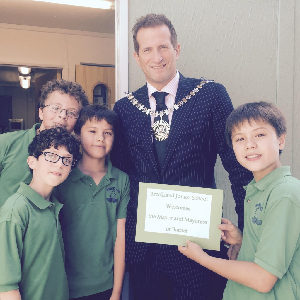 Brooklands Junior School with Mayor