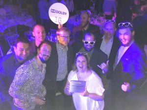 Souncuts team receiving an award