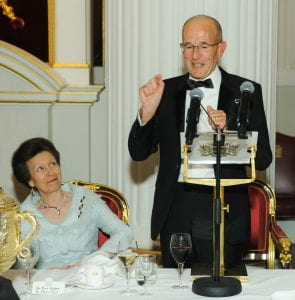 HRH Princess Royal at the Rector's Dinner in 2016