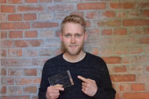 Matti Fischer with award