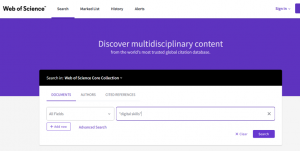 New Web of Science interface