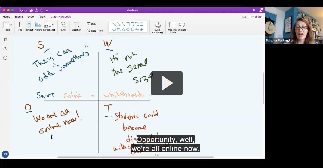 Online whiteboard demonstration