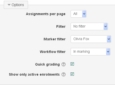Marking filter in action
