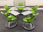Node chairs configured for groupwork in fives