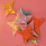 Origami handouts used on the reflective walk