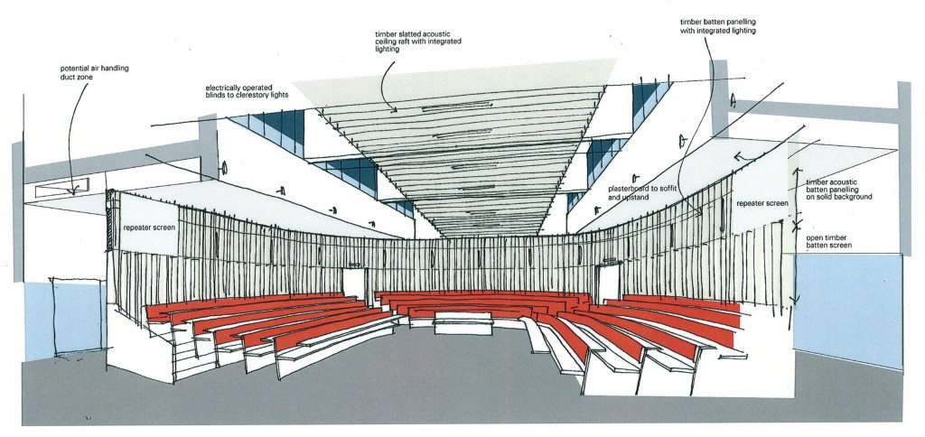 horseshoe-lecture-theatre-sketch