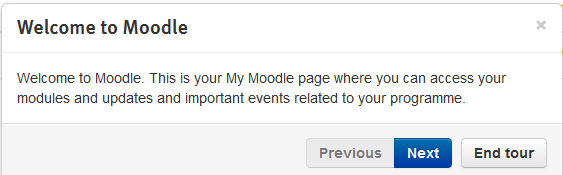 My Moodle User Tour