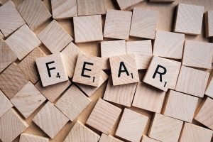 Image spelling out the word fear