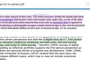 Screenshot from Similarity Report in Turnitin Feedback Studio