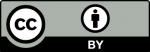 Creative Commons License symbol showing that source can be reused as long as you give the author attribution