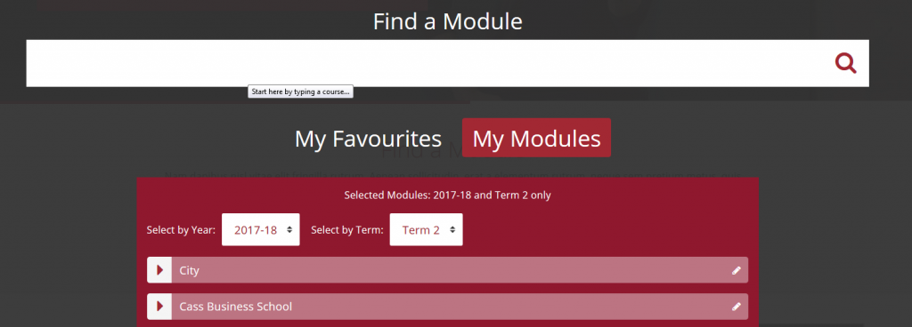 Find a Module functionality
