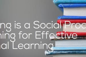 learning is a social process