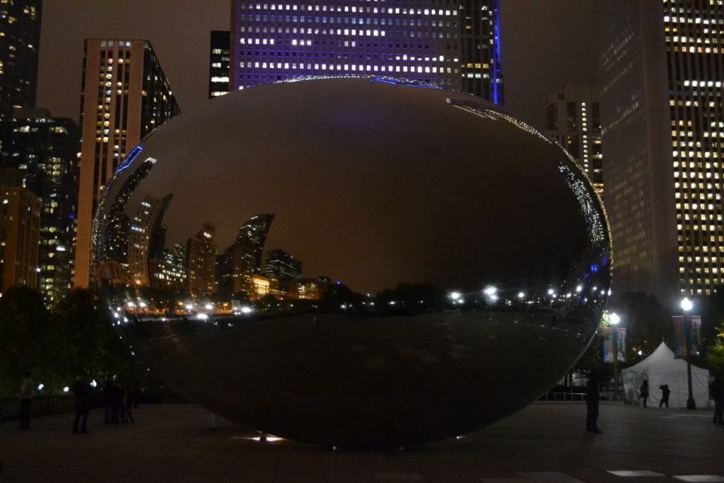 Anish Kapoor's 'Cloud Gate', in Chicago's Millennium Park.