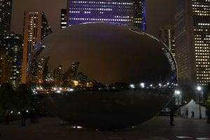 Anish Kapoor's 'Cloud Gate', in Chicago's Millennium Park.