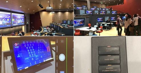 Photos of the R2 collaborative lecture theatre at the Norwegian University of Science and Technology