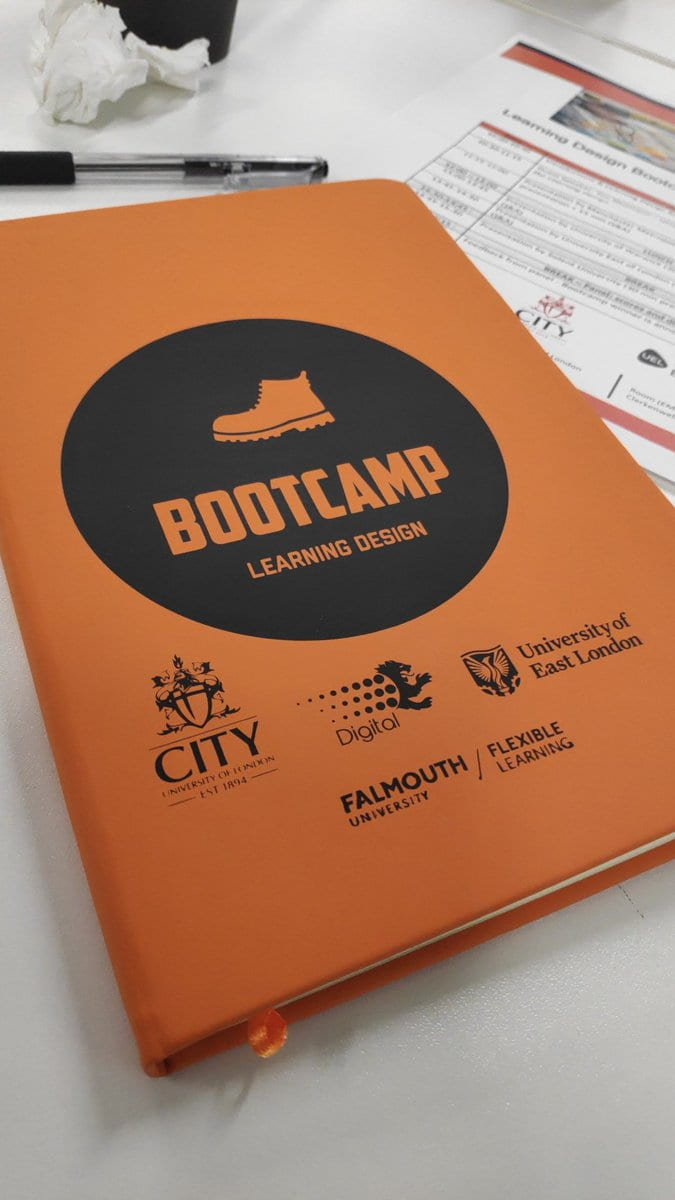 Photo of Learning Design Bootcamp notebook